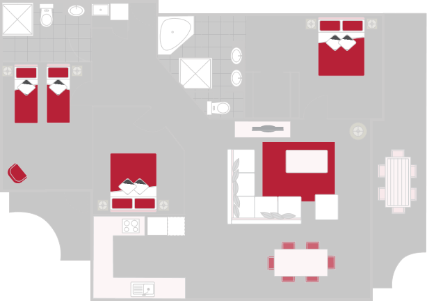Luxury 3 Bedroom Apartment Floor Plan